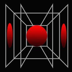 Roter Ball-Grafik-Grafisch-Abstrakt
