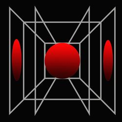 Bild mit Bälle, Abstrakte Kunst, ABSTRAKT art, Grafische Kompositionen, Abstraktes, Grafiken, ball, Roter Ball