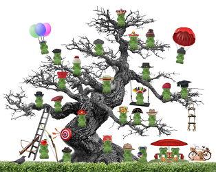 Bild mit Abstrakt, Kinderbilder, Bär, Bier, Kind, Kunst fürs Kinderzimmer, Fahrrad, Sonnenschirm, humor, picknick, Hut, Gummibären, Hüte.Hund, P, Apfel., luftballon, indianer, koch, könig, fallschirm