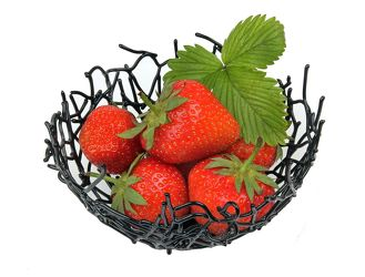 Bild mit Obst, Erdbeeren, leckere Erdbeeren, Küchenbild, obst und früchte, Früchte Lebensmittel, Küchenbilder, obstschale
