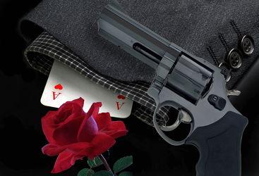 Bild mit Rose, red Rose, red Rose, Karten, anzug, kartenspiel, karte, Pistole, Revolver