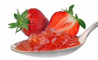 Bild mit Früchte, Beeren, Frucht, Obst, Erdbeere, leckere Erdbeeren, Gartenerdbeere, obst  früchte, Erdbeermarmelade