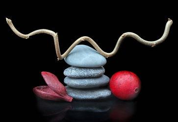 Bild mit Stein, Steine, Wellness, Zweige, Zweig, Kugel, zen