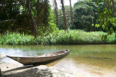 Bild mit Natur, Wasser, boot, Boote, Africa, Afrika, Fluss