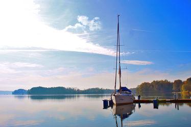 Segelboot am Scharmützelsee
