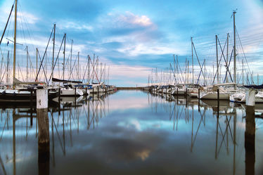 Hafenanlage Grömitz an der Ostsee
