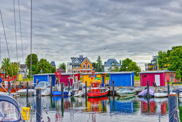 Bild mit Häfen, Ostsee, Lübecker Bucht, Boote, Kutter, fischerhütte, Timmendorfer Strand, Niendorf