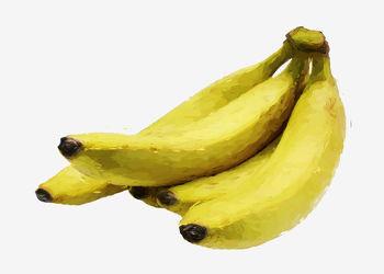 gemalte Früchte - Bananen