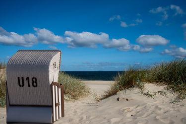 Bild mit Strände, Strand, Sandstrand, Meerblick, Strandkörbe, Strandkorb, Düne, Dünen