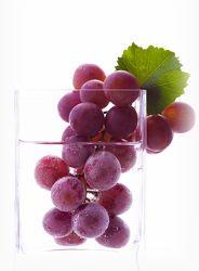 Weintrauben im Glas Stillleben