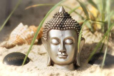Bild mit Natur, Gräser, Wellen, Sonne, Strand, Ostsee, Meer, Gras, Meditation, Entspannung, Buddha, Wellness, Spa, Yoga