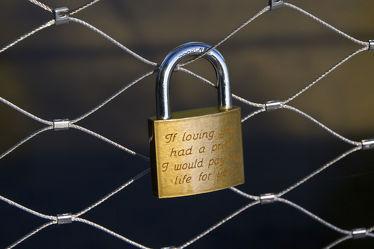 U-lock on the fence