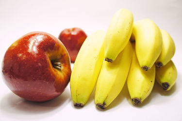 Bild mit Früchte, Lebensmittel, Bananen, Frucht, Banane, Obst, Küchenbild, Apfel, Küchenbilder, KITCHEN, Küche