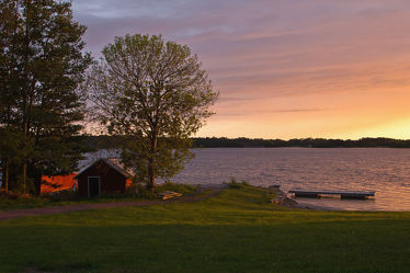 Aland - Abendstimmung an einem See