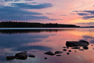 Abend am See Lentua, Finnland 2