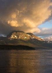Berg in Wolken in Norwegen