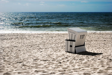 Bild mit Strände, Strand, Meerblick, Strandkörbe, Strandkorb, Am Meer