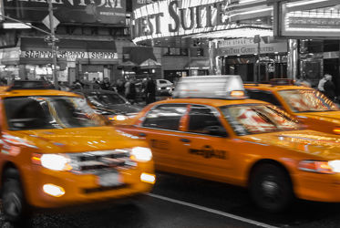 Bild mit Autos, Architektur, Straßen, Stadt, urban, New York, New York, monochrom, Staedte und Architektur, USA, VINTAGE, schwarz weiß, metropole, Straße, SW, Manhattan, Brooklyn Bridge, Yellow cab, New York City, NYC, yellow cabs, Manhatten, Times Square, traffic, crowd, grand central station, travelling, car