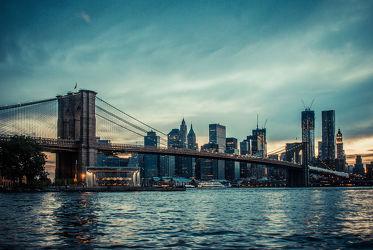Bild mit Architektur, New York, USA, Skyline, hochhaus, wolkenkratzer, Hochhäuser, NYC, empire state building