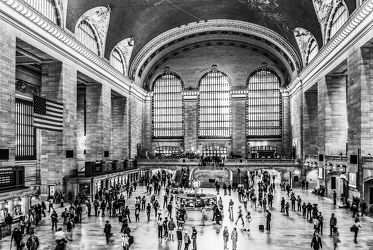 Bild mit Autos, Architektur, Straßen, Stadt, urban, New York, New York, monochrom, Staedte und Architektur, USA, schwarz weiß, metropole, Straße, SW, Manhattan, Brooklyn Bridge, New York City, NYC, traffic, crowd, grand central station, travelling