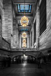Bild mit New York, New York, USA, VINTAGE, schwarz weiß, SW, New York City, grand central station, travelling