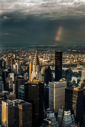 Bild mit Autos, Architektur, Straßen, Stadt, urban, urban, New York, New York, monochrom, Staedte und Architektur, USA, hochhaus, wolkenkratzer, metropole, Straße, Hochhäuser, rainbow, street, Manhattan, Brooklyn Bridge, Yellow cab, taxi, Taxis, New York City, NYC, Gelbe Taxis, yellow cabs, cabs, skyscraper, rain, rainy, storm, thunder, new jersey