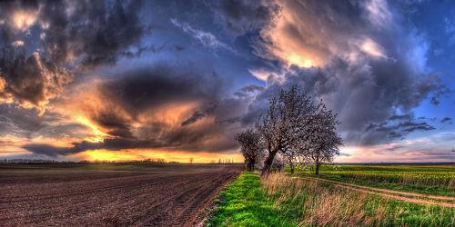 Bild mit Natur, Himmel, Wolken, Sonnenuntergang, Sonnenaufgang, Sonne, Wolkenhimmel, Mansfeld Südharz