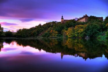 Bild mit Wasser, Gewässer, Flüsse, Sonnenuntergang, Gebäude, Sonnenaufgang, Schlösser und Burgen, Schlösser, Schloss, Burg, Mansfeld Südharz, Fluss, Burgen, walbeck