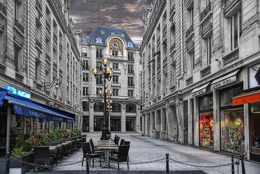 Bild mit Architektur, Gasse, Sehenswürdigkeit, romantik, City, Sehenswürdigkeiten, Paris, cafe, cafe, Straße, Stadtleben, Grossstadt, Pariser, Paris pompös, Seitenstraße