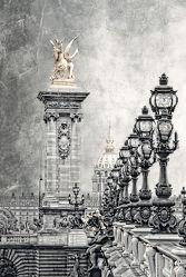 Bild mit Architektur, Brücken, Sehenswürdigkeit, romantik, Brücke, City, Sehenswürdigkeiten, Paris, Laterne, Laternen, Straße, Stadtleben, Grossstadt, Pariser, Pantheon Paris, seine, fluss seine, Paris pompös
