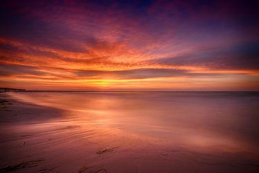 Bild mit Gewässer, Meere, Strände, Sonnenuntergang, Urlaub, Sonnenaufgang, Strand, Ostsee, Meer, Sonnenuntergänge, Am Meer, ozean