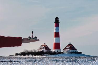 Bild mit Natur, winterlandschaft, Am Strand, Leuchtturm, Lighthouse