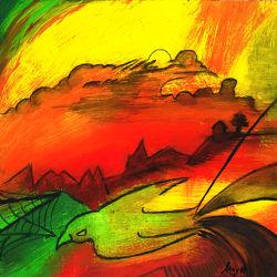 Bild mit Kunst, Malerei, Abstrakt, art, yammay malerisch, Schatten, Silhouette, natur kunst, malen
