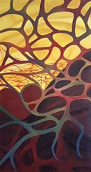 Bild mit Abstrakte Kunst, Acryl, Liebe und Herzen, Behind the curtain, Herz, Anatomie, Adern