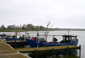 Fischerboote am Stettiner Haff