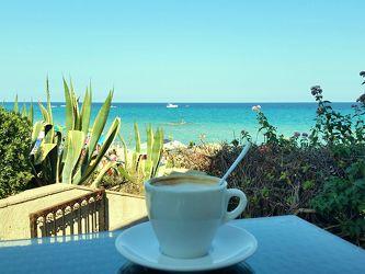 Bild mit Natur, Landschaften, Italien, Strand, Meerblick, Meer, Landschaft, cafe, kaffee