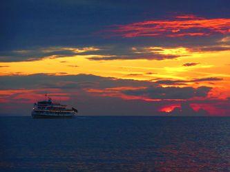 Bild mit Natur, Wasser, Seen, Strände, Sonnenuntergang, Sonnenaufgang, Schiffe, Strand, Ostsee, Schiff, boot, Meer, Boote, Landschaft, See, germany