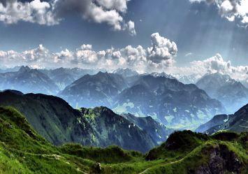 Bild mit Natur, Landschaften, Berge, Wolken, Österreich, Panorama, Landschaft, berg, Gebirge