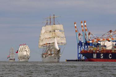 Bild mit Schiffe, Meer, Segelschiffe, Segler, Bremerhaven, Weser, Sail_Bremerhaven_2015