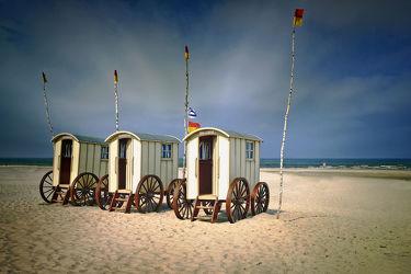 Norderneyer Umkleidekabinen am Strand