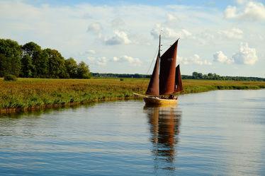 Ein Zeesenboot auf dem Bodden