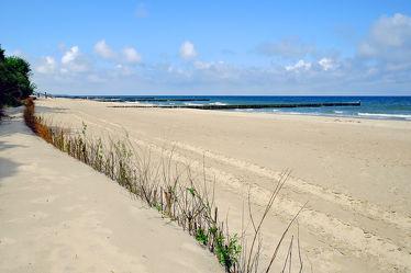 Bild mit Himmel, Wolken, Sand, Strand, Meer, Dünen, Strand / Meer, Ostseeküste, Schutz