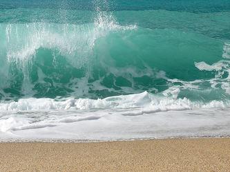 Bild mit Meere, Wellen, Sonne, Strand, Sandstrand, Meer, Am Meer, Welle, Gischt