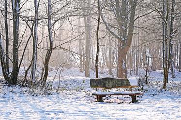 Sonnenbank im Winter