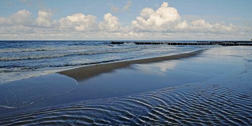 Bild mit Himmel, Wellen, Strand, Meer, Ausspannen, Blaue, Stunde