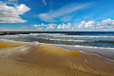 Bild mit Himmel, Himmel, Wolken, Wolken, Strand, Dünen, Küste, Küste, Gischt, Wogen
