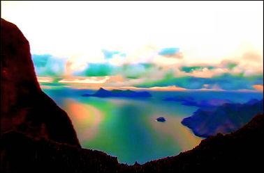 Bild mit Natur, Landschaften, Digital Art