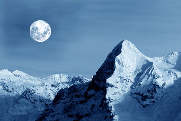Bild mit Natur, Berge, Schnee, Gletscher, Seen, Nebel, Mond, Alm, Alpen, Panorama, Bergsee, See, Elbsandsteingebirge, berg, Vollmond, Wicca