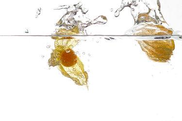 Bild mit Wasser, Früchte, Essen, Unterwasser, Zitrusfrüchte, Frucht, Obst, KITCHEN, GESUND, frisch, fruchtig, water, h2o, Vitamine, Ernährung, Physalis, Küche, Küche