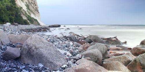 Bild mit Natur, Wasser, Landschaften, Gewässer, Meere, Meere, Strand, Ostsee, Meer, Landschaft, Steine, Steinstrand